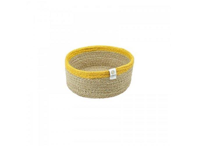 Košík z juty Respiin Natural žlutý - Malý
