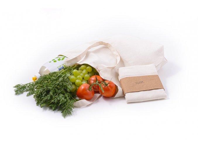 Plátěná nákupní taška z biobavlny