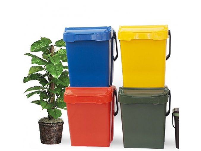 Koše na třídění odpadu Urba 40 - SET 4 ks