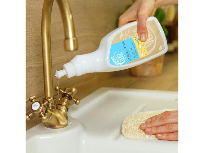 citronovy gel na vodni kamen lahev 750 ml