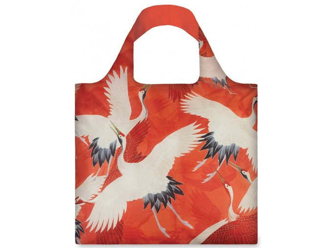 MUSEUM Woman s haori white and red cranes bag (1)