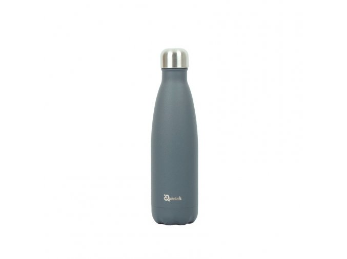 Nerezová termo láhev Qwetch - Šedá, 500 ml