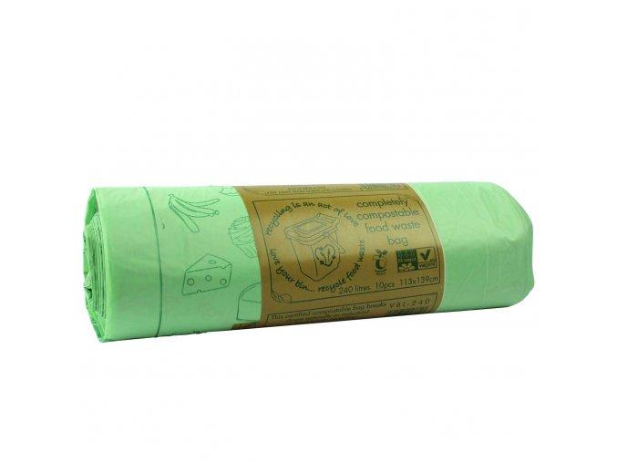 Kompostovatelné pytle 140 l, 10 ks