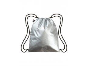 LOQI batoh Metallic Silver