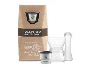 Plnitelná nerezová kapsle WayCap 1ks