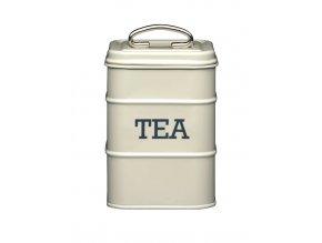 Vintage dóza na čaj - cream