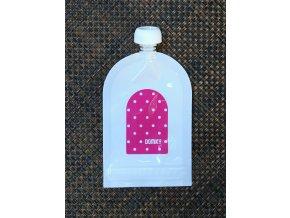 Domky plnitelná kapsička - Růžový puntík