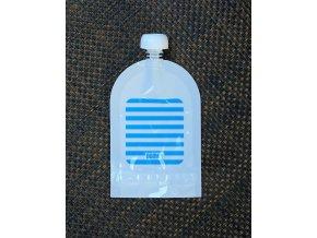 Domky plnitelná kapsička - Modrý proužek